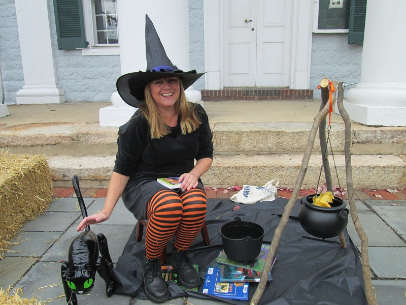 Woodstock Library Reading Witch